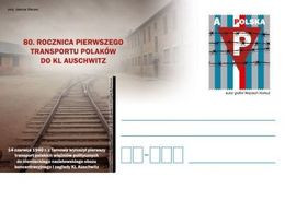 Poland 2020 80th Anniversary Of The First Transport Of Poles To Auschwitz Postcard - Seconda Guerra Mondiale