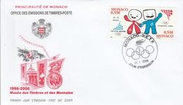 MONACO FDC 2006 JEUX OLYMPIQUES DE TURIN - FDC