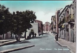 Chiusa Sclafani Via Santa Caterina Acquerellata Anni '50 - Altre Città