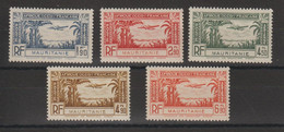 Mauritanie 1940 Série Avion PA 1-5 5 Val ** MNH - Unused Stamps