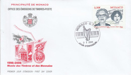 MONACO FDC 2005 NBADIA ET LILI BOULANGER - FDC