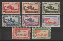 Mauritanie 1942 Série Avion PA 10-17 8 Val ** MNH - Unused Stamps