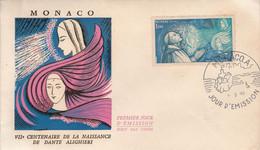 MONACO FDC 1966 DANTE ALIGHIERI - FDC