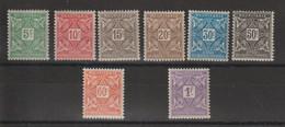 Mauritanie 1914 Série Taxe 17-24 8 Val * Charnière MH - Unused Stamps