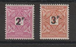 Mauritanie 1927 Série Taxe Surchargée 25-26 2 Val * Charnière MH - Unused Stamps