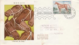 MONACO FDC DE LABORATOIRE 1970 CHEVAL DE SELLE - FDC