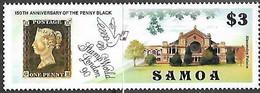 Samoa  1990   Sc#775  $3 Penny Black  MNH   2016 Scott Value $4 - Samoa