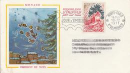 MONACO FDC DE LABORATOIRE 1971 NOEL - FDC