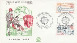 ANDORRE FDC 1982 EUROPA - FDC