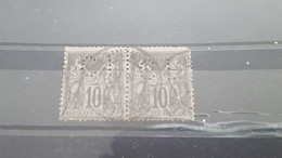 LOT560378 TIMBRE DE FRANCE OBLITERE PERFORE - Collections