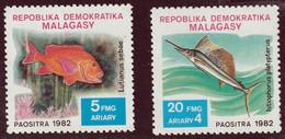 MADAGASCAR (Malagasy) - Faune, Poissons - N° 678-682 - 1982 - MNH - Madagascar (1960-...)
