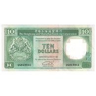 Billet, Hong Kong, 10 Dollars, 1992, 1992-01-01, KM:191c, SPL - Hongkong