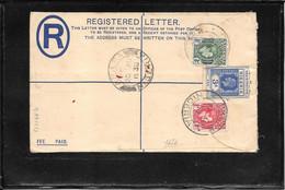 Nigeria 1938, Uprated Registred Postal Stationery From Oxene To Kilmarnock Scotland ( Ref 1004b) - Nigeria (...-1960)