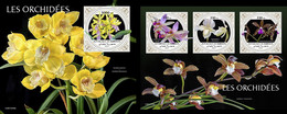 Djibouti 2021, Orchids, Shape, 3val In BF +BF - Orchidee