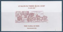 """VIGNETTE GOMMEE SALON DU TIMBRE 16/6/2006 """"INAUGURATION"""" - Expositions Philatéliques"""
