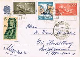 42026. Tarjeta Aerea PUERTO De La CRUZ, Tenerife (Canarias) 1961 A Alemania - 1961-70 Storia Postale