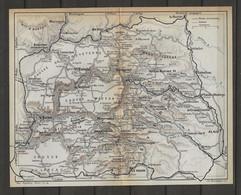 CARTE PLAN 1914 - CAUSSE Du LARZAC - CAUSSE MÉJEAN - CAUSSE SAUVETERRE - LE VIGAN - MEYRUIES - MENDE - MILLAU - ALAIS - Carte Topografiche