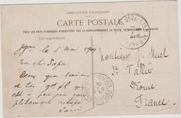 INDOCHINE  From  POULO CONDOR 1909  To France - FUMEUR OPIUM FUMANT LA PIPE  SAIGON VIETNAM  Réf  9263 - Storia Postale