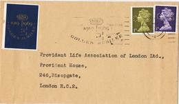 42028. Carta BIRMINGHAM (England) 1969. Perforado Comercial, Perkin, Firmenlung  CS, Viñeta, Label - Covers & Documents