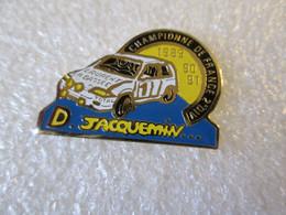 PIN'S    CITROEN  AX   DOROTHÉE JACQUEMIN  CHAMPIONNE DE FRANCE DES RALLYES  2eme DIVISION  89 90 91 - Citroën