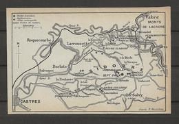 CARTE PLAN 1914 - SIDORE - ROQUECOURBE LACROUZETTE CASTRES St SALVY - VABRE MONTS De LACAUNE - Carte Topografiche