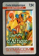 """Carte Téléphonique SYMACOM 7,5€ """"Sourire D'Afrique"""" - Visuel Tableau Signé Safi Ma' Béa 02 - Altre Schede Prepagate"""