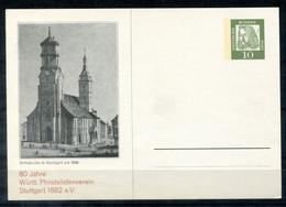 "F1264 -  BUND - Privatganzsache 10 Pfg. Dürer ""80 J. Württ. Philatelistenverein, Stuttgart 1882 E.V."", Abb. Stiftskirche - Privatpostkarten - Ungebraucht"