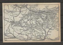 CARTE PLAN 1914 - MONTAGNE NOIRE - CASTRES - CASTELNAUDARY - MAZAMET - L'ESPINOUSSE - REVEL - CONQUES - Carte Topografiche