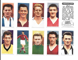 BQ23 - SERIE COMPLETE 50 CARTES CADET SWEET - FOOTBALLERS - Trading Cards