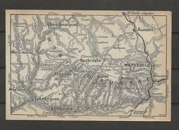CARTE PLAN 1914 - MONT D'AUBRAC - ESPALION - MARJEVOLS - CHAUDESAIGUES NASBINALS - ENTRAYGUES - AUMONT - Carte Topografiche