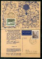 F1267 - BERLIN - Mi. 233 Perfin Auf Luftpost-Karte Bujendorf > Lorch, 1.Kinderdorf-Ballonflug - Briefe U. Dokumente