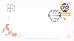42031. Carta F.D.C. JERUSALEM (Israel) 1968. FOTBOL, Football, Torneo Olimpico - FDC