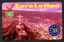 """Carte Téléphonique EAGLE-TELECOM  EuroLatina 7,62 € """"Baie De Rio De Janeiro"""" - Altre Schede Prepagate"""