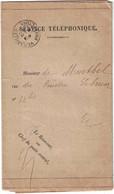 Yvelines - Versailles Préfecture - Service Téléphonique - Postes Et Télégraphes - N°1392-64 - 30 Novembre 1915 - Posta