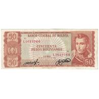 Billet, Bolivie, 50 Pesos Bolivianos, 1962, 1962-07-13, KM:162a, B+ - Bolivia
