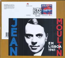 Postal Stationery By Jean Moulin In Lisbon In 1941. 2nd World War. Hero Of The French Resistance. Alfama. Writer. - Seconda Guerra Mondiale