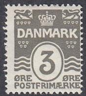 Denmark, Scott #87, Mint Hinged, Number, Issued 1913 - Ungebraucht