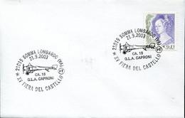 66885 Italia, Special Postmark 2003 Somma Lombardo,fiera Del Castello, Aereo CA.18 G.l.a.  Caproni - Altri