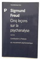 Cinq Leçons Sur La Psychanalyse Suivi De Contribution à L'Histoire Du Mouvement Psychanalytique - Salute