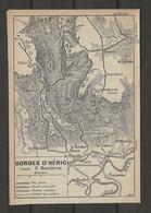 CARTE PLAN 1914 - GORGES D'HÉRIC D'après NAUZIERES - VOIE FERRÉE - ROUTES CHEMINS - TARASSAC - L'ESPINOUSE - Carte Topografiche