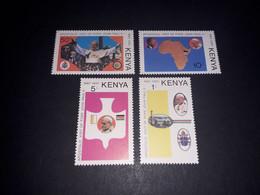 "REL06 KENYA 1980 VISITA PAPA GIOVANNI PAOLO II SERIE 4 VALORI ""XX"" - Kenya (1963-...)"