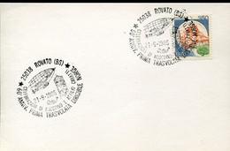 """66891 Italia, Special Postmark 1986 Rovato (BS) 50^ Anniv. Prima Trasvolata Dirigibile """"NORGE"""" - Altri"""