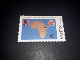 "REL06 KENYA 1980 VISITA PAPA GIOVANNI PAOLO II 10 C. ""XX"" - Kenya (1963-...)"