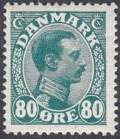 Denmark, Scott #126, Mint Hinged, Christian X, Issued 1913 - Ungebraucht