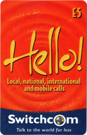"Paco \ IRLANDA \ Switchcom 0020 D \ Hello! - Orange (Reverse With ""Talk To The World For Less"" \ Usata - Ireland"