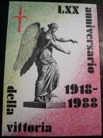 1988 Trieste Cartolina Nuova LXX° Anniv.Vittoria - Altri