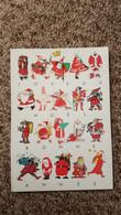 CPSM JOYEUX NOEL PERE NOEL BONNE ANNEE 1984 DESSINS PAR ILLUSTARATEURS DIFFERENTS   SANTA CLAUS - Santa Claus