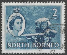 North Borneo. 1954-59 QEII. 2c Used SG 373 - North Borneo (...-1963)