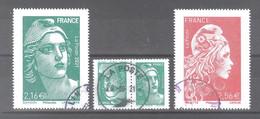 France Oblitérés : N°5497 - 5498 Et 5496a (tête Bêche) (cote : 21 €) (cachet Rond) - Used Stamps