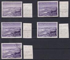 ARGENTINA. LOTE SELLOS MAR DEL PLATA EN CINCO PAPELES DIFERNTES. 4 NUEVOS MH Y 1 USADO. LOT RARE- LILHU - Collections, Lots & Séries